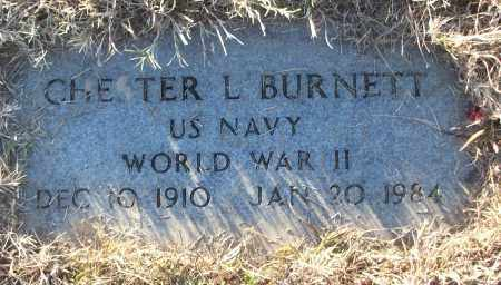 BURNETT (VETERAN WWII), CHESTER L - White County, Arkansas | CHESTER L BURNETT (VETERAN WWII) - Arkansas Gravestone Photos