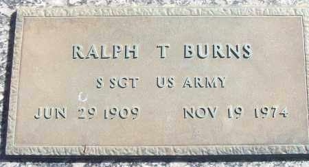 BURNS (VETERAN), RALPH T - White County, Arkansas | RALPH T BURNS (VETERAN) - Arkansas Gravestone Photos