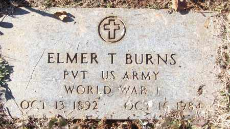 BURNS (VETERAN WWI), ELMER T - White County, Arkansas | ELMER T BURNS (VETERAN WWI) - Arkansas Gravestone Photos
