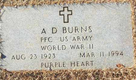 BURNS (VETERAN WWII), A D - White County, Arkansas | A D BURNS (VETERAN WWII) - Arkansas Gravestone Photos