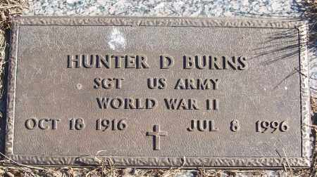 BURNS (VETERAN WWII), HUNTER D - White County, Arkansas | HUNTER D BURNS (VETERAN WWII) - Arkansas Gravestone Photos