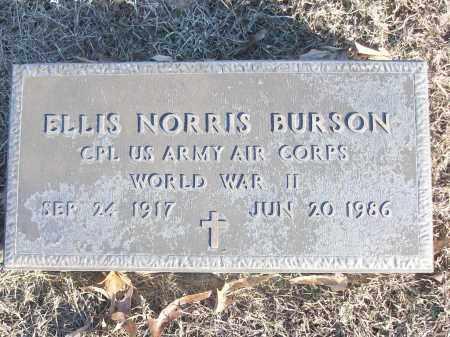 BURSON (VETERAN WWII), ELLIS NORRIS - White County, Arkansas | ELLIS NORRIS BURSON (VETERAN WWII) - Arkansas Gravestone Photos