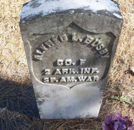BUSBY  (VETERAN  SAW), ALFRED L. - White County, Arkansas | ALFRED L. BUSBY  (VETERAN  SAW) - Arkansas Gravestone Photos