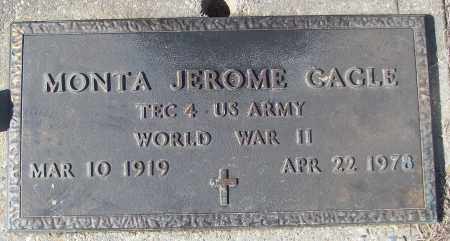 CAGLE (VETERAN WWII), MONTA JEROME - White County, Arkansas | MONTA JEROME CAGLE (VETERAN WWII) - Arkansas Gravestone Photos