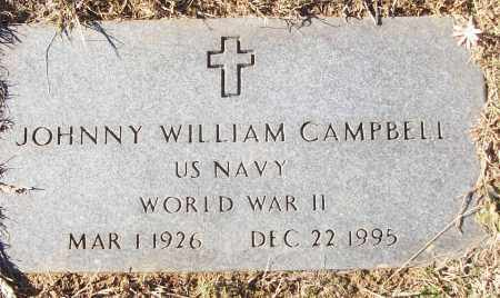 CAMPBELL (VETERAN WWII), JOHNNY WILLIAM - White County, Arkansas | JOHNNY WILLIAM CAMPBELL (VETERAN WWII) - Arkansas Gravestone Photos