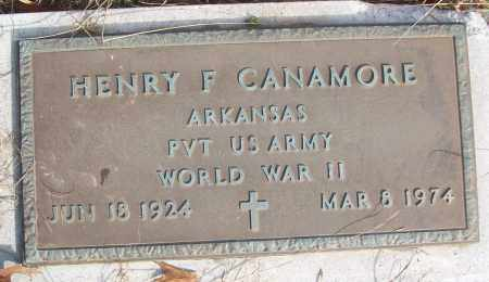 CANAMORE (VETERAN WWII), HENRY F - White County, Arkansas | HENRY F CANAMORE (VETERAN WWII) - Arkansas Gravestone Photos