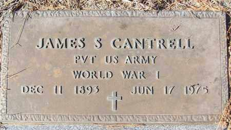 CANTRELL (VETERAN WWI), JAMES S - White County, Arkansas | JAMES S CANTRELL (VETERAN WWI) - Arkansas Gravestone Photos