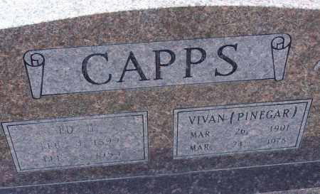 PINEGAR CAPPS, VIVAN - White County, Arkansas | VIVAN PINEGAR CAPPS - Arkansas Gravestone Photos