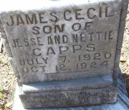 CAPPS, JAMES CECIL - White County, Arkansas | JAMES CECIL CAPPS - Arkansas Gravestone Photos