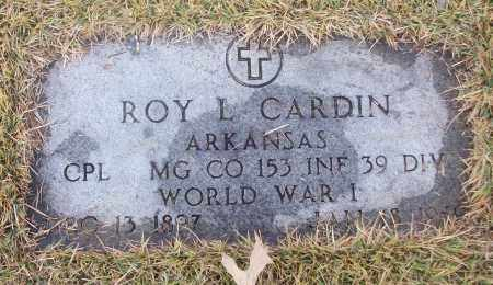 CARDIN  (VETERAN WWI), ROY L - White County, Arkansas | ROY L CARDIN  (VETERAN WWI) - Arkansas Gravestone Photos