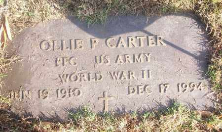 CARTER  (VETERAN WWII), OLLIE P - White County, Arkansas | OLLIE P CARTER  (VETERAN WWII) - Arkansas Gravestone Photos