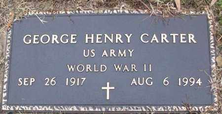 CARTER (VETERAN WWII), GEORGE HENRY - White County, Arkansas | GEORGE HENRY CARTER (VETERAN WWII) - Arkansas Gravestone Photos