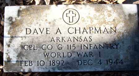 CHAPMAN (VETERAN WWI), DAVE A - White County, Arkansas | DAVE A CHAPMAN (VETERAN WWI) - Arkansas Gravestone Photos
