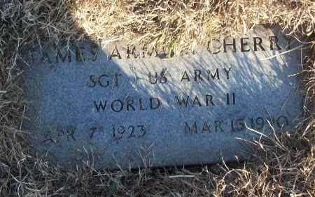CHERRY (VETERAN WWII), JAMES ARMON - White County, Arkansas | JAMES ARMON CHERRY (VETERAN WWII) - Arkansas Gravestone Photos