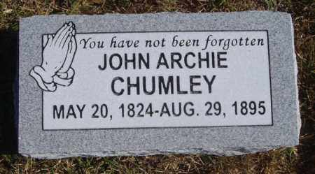 CHUMLEY, JOHN ARCHIBALD - White County, Arkansas | JOHN ARCHIBALD CHUMLEY - Arkansas Gravestone Photos