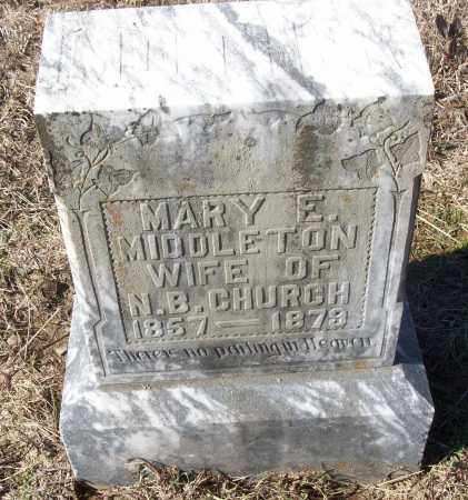 MIDDLETON CHURCH, MARY E. - White County, Arkansas | MARY E. MIDDLETON CHURCH - Arkansas Gravestone Photos
