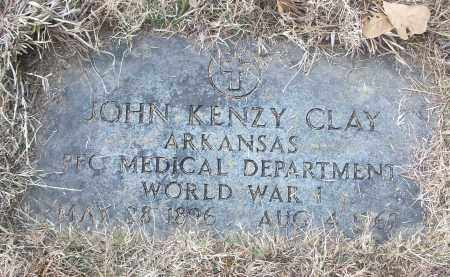 CLAY (VETERAN WWI), JOHN KENZY - White County, Arkansas | JOHN KENZY CLAY (VETERAN WWI) - Arkansas Gravestone Photos