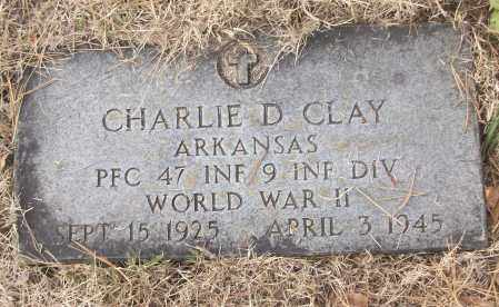 CLAY (VETERAN WWII), CHARLIE D - White County, Arkansas   CHARLIE D CLAY (VETERAN WWII) - Arkansas Gravestone Photos