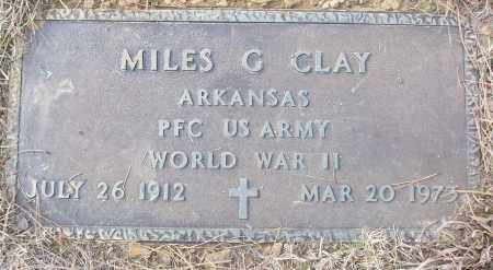 CLAY (VETERAN WWII), MILES G - White County, Arkansas | MILES G CLAY (VETERAN WWII) - Arkansas Gravestone Photos