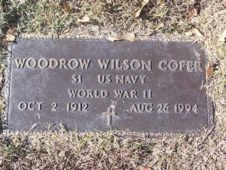 COFER  (VETERAN WWII), WOODROW WILSON - White County, Arkansas | WOODROW WILSON COFER  (VETERAN WWII) - Arkansas Gravestone Photos
