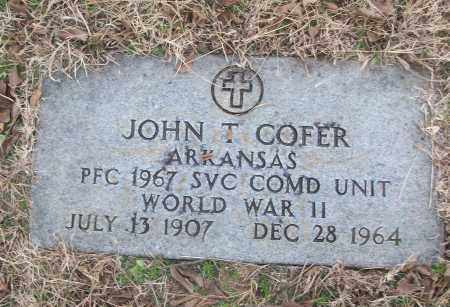COFER (VETERAN WWII), JOHN T - White County, Arkansas | JOHN T COFER (VETERAN WWII) - Arkansas Gravestone Photos