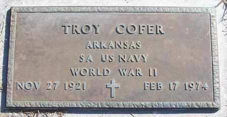 COFER (VETERAN WWII), TROY - White County, Arkansas | TROY COFER (VETERAN WWII) - Arkansas Gravestone Photos