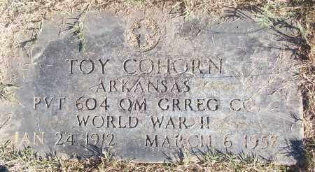 COHORN (VETERAN WWII), TOY - White County, Arkansas | TOY COHORN (VETERAN WWII) - Arkansas Gravestone Photos