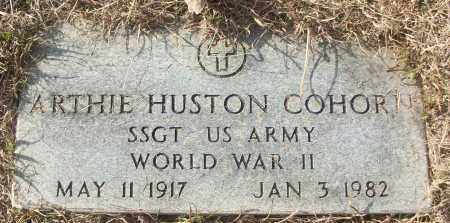 COHORN (VETERAN WWII), ARTHIE HUSTON - White County, Arkansas | ARTHIE HUSTON COHORN (VETERAN WWII) - Arkansas Gravestone Photos