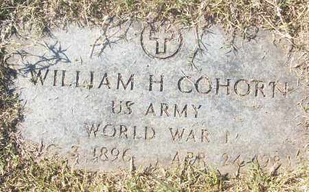 COHORN  (VETERAN WWI), WILLIAM H - White County, Arkansas | WILLIAM H COHORN  (VETERAN WWI) - Arkansas Gravestone Photos
