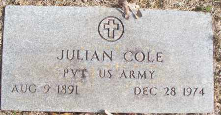 COLE (VETERAN), JULIAN - White County, Arkansas | JULIAN COLE (VETERAN) - Arkansas Gravestone Photos