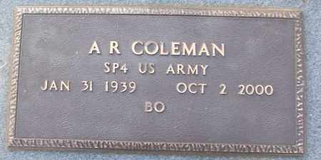 COLEMAN (VETERAN), A R - White County, Arkansas | A R COLEMAN (VETERAN) - Arkansas Gravestone Photos