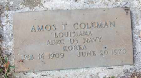 COLEMAN (VETERAN KOR), AMOS T - White County, Arkansas | AMOS T COLEMAN (VETERAN KOR) - Arkansas Gravestone Photos