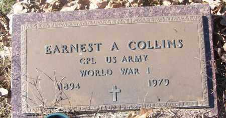 COLLINS  (VETERAN WWI), EARNEST A. - White County, Arkansas | EARNEST A. COLLINS  (VETERAN WWI) - Arkansas Gravestone Photos