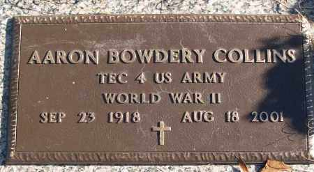COLLINS (VETERAN WWII), AARON BOWDERY - White County, Arkansas | AARON BOWDERY COLLINS (VETERAN WWII) - Arkansas Gravestone Photos