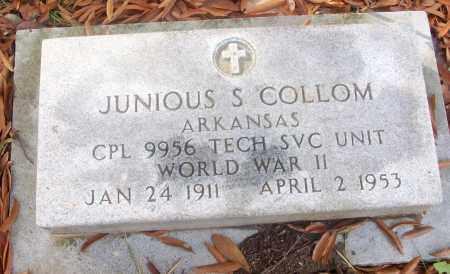 COLLOM  (VETERAN WWII), JUNIOUS S - White County, Arkansas | JUNIOUS S COLLOM  (VETERAN WWII) - Arkansas Gravestone Photos