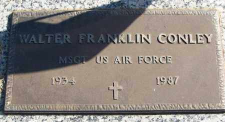 CONLEY (VETERAN), WALTER FRANKLIN - White County, Arkansas | WALTER FRANKLIN CONLEY (VETERAN) - Arkansas Gravestone Photos