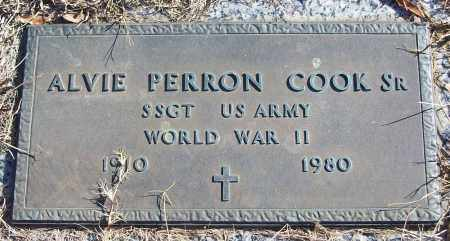 COOK, SR (VETERAN WWII), ALVIE PERRON - White County, Arkansas | ALVIE PERRON COOK, SR (VETERAN WWII) - Arkansas Gravestone Photos