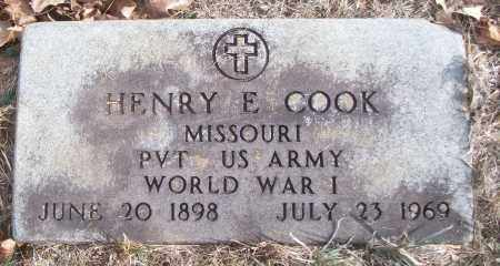 COOK (VETERAN WWI), HENRY E - White County, Arkansas | HENRY E COOK (VETERAN WWI) - Arkansas Gravestone Photos
