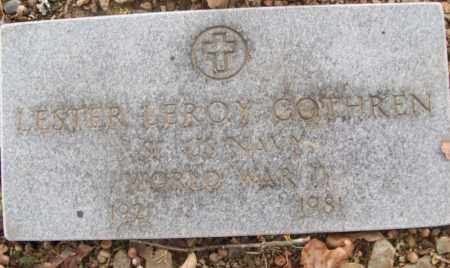 COTHREN  (VETERAN (WWII), LESTER LEROY - White County, Arkansas | LESTER LEROY COTHREN  (VETERAN (WWII) - Arkansas Gravestone Photos