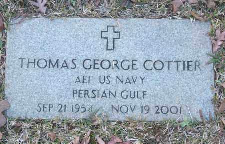 COTTIER (VETERAN PGW), THOMAS GEORGE - White County, Arkansas | THOMAS GEORGE COTTIER (VETERAN PGW) - Arkansas Gravestone Photos