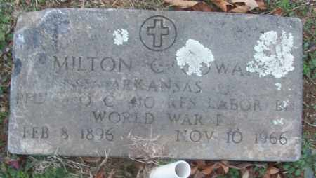 COWAN (VETERAN WWI), MILTON C - White County, Arkansas | MILTON C COWAN (VETERAN WWI) - Arkansas Gravestone Photos