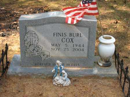 COX, FINIS BURL - White County, Arkansas | FINIS BURL COX - Arkansas Gravestone Photos