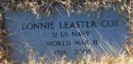 COX (VETERAN WWII), LONNIE LEASTER - White County, Arkansas | LONNIE LEASTER COX (VETERAN WWII) - Arkansas Gravestone Photos
