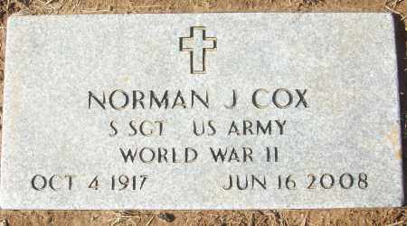 COX (VETERAN WWII), NORMAN J - White County, Arkansas | NORMAN J COX (VETERAN WWII) - Arkansas Gravestone Photos