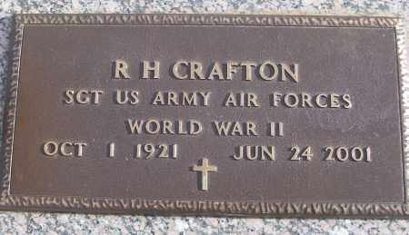 CRAFTON (VETERAN WWII), R H - White County, Arkansas | R H CRAFTON (VETERAN WWII) - Arkansas Gravestone Photos