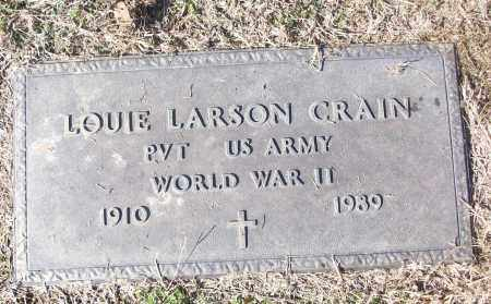 CRAIN (VETERAN WWII), LOUIE LARSON - White County, Arkansas | LOUIE LARSON CRAIN (VETERAN WWII) - Arkansas Gravestone Photos