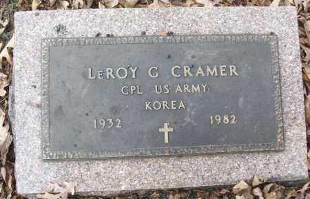 CRAMER (VETERAN KOR), LEROY G - White County, Arkansas | LEROY G CRAMER (VETERAN KOR) - Arkansas Gravestone Photos