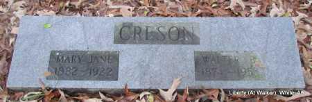 CRESON, MARY JANE - White County, Arkansas   MARY JANE CRESON - Arkansas Gravestone Photos
