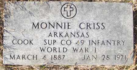 CRISS (VETERAN WWI), MONNIE - White County, Arkansas | MONNIE CRISS (VETERAN WWI) - Arkansas Gravestone Photos