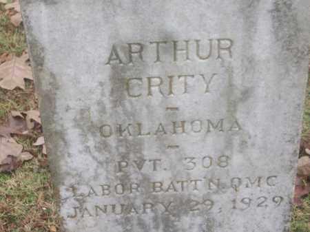 CRITY  (VETERAN), ARTHUR - White County, Arkansas | ARTHUR CRITY  (VETERAN) - Arkansas Gravestone Photos